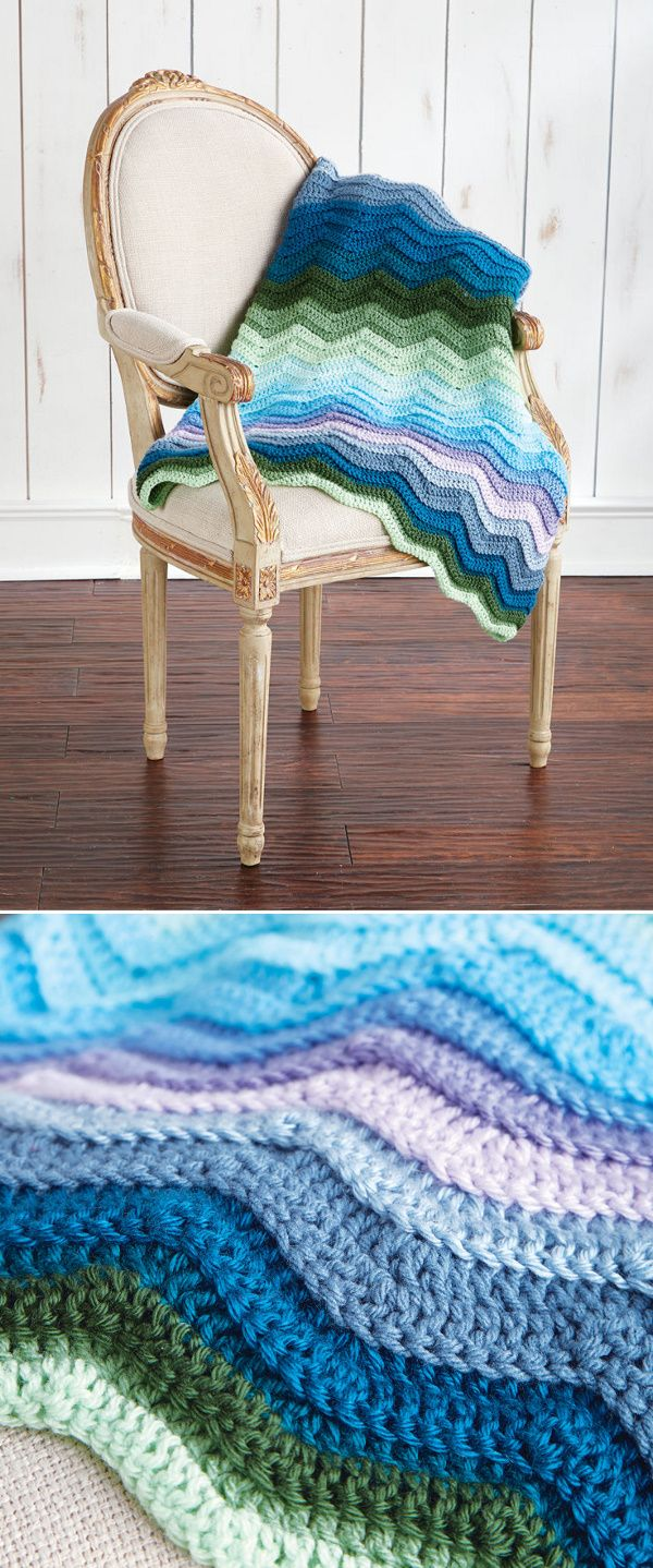 Seafarer\'s Blanket (Crochet) | Couverture | Pinterest | Manta ...