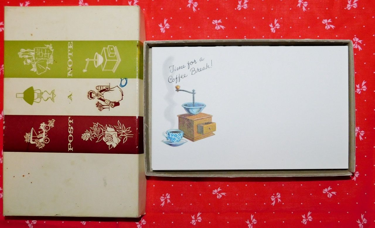 Vintage Current Inc Post A Note Postcards With Original Box 1980s