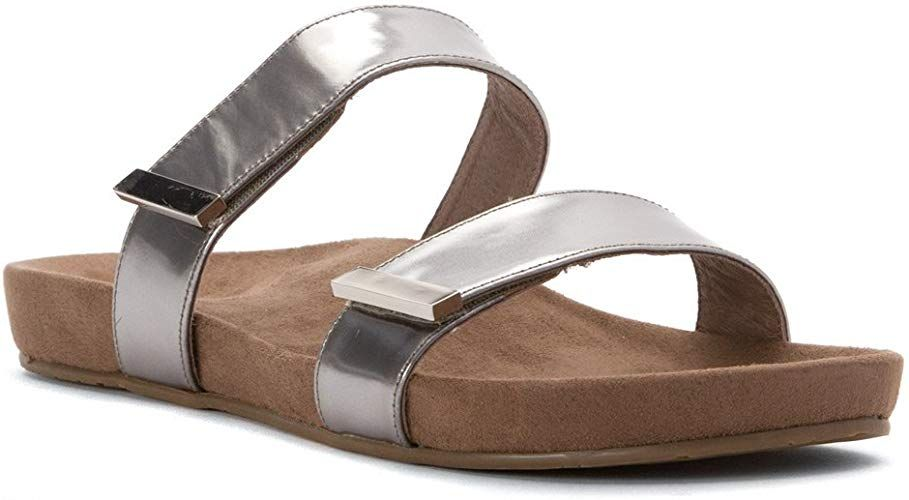 7552  25000 Vionic Grace Jura  Womens Slide Sandals Leather Imported Lug Sole sole Enjoy the warm season in style with the Jura
