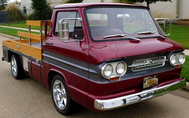 Custom 1962 Corvair Rampside Flatbed - http://barnfinds.com/custom-1962-corvair-rampside-flatbed/