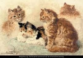 ginger cat painting - Google Search