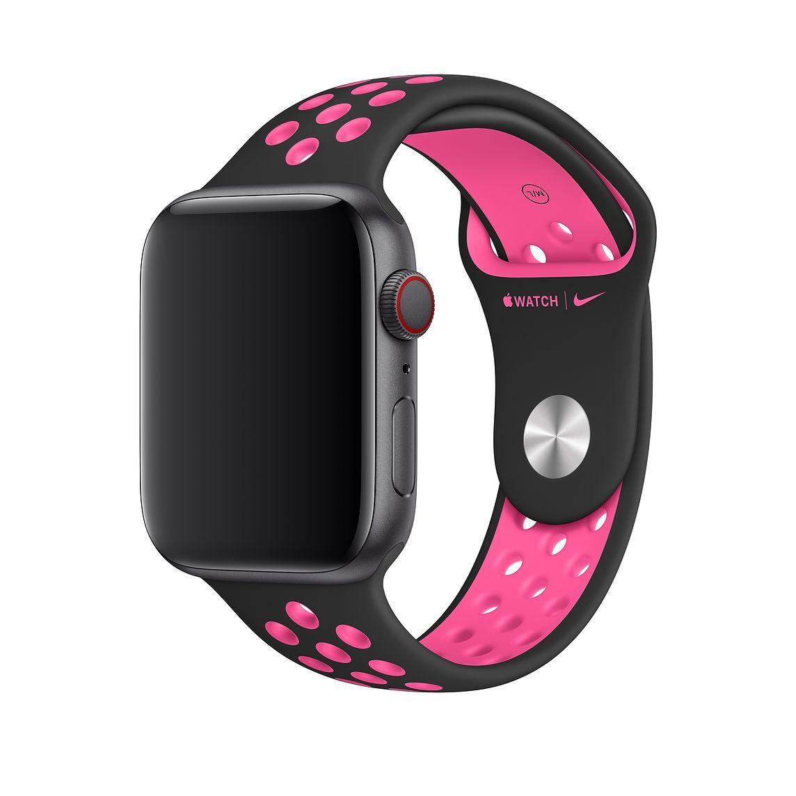 40mm Black/Pink Blast Nike Sport Band Regular Apple