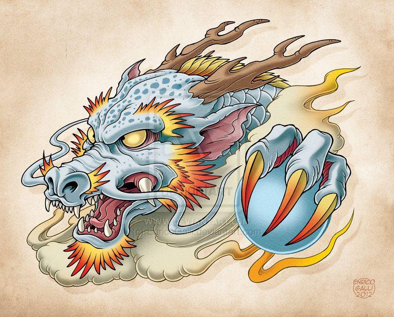 Oriental Dragon By Enricogalli On Deviantart Tatuaggio Dragone Idee Per Tatuaggi Drago Giapponese