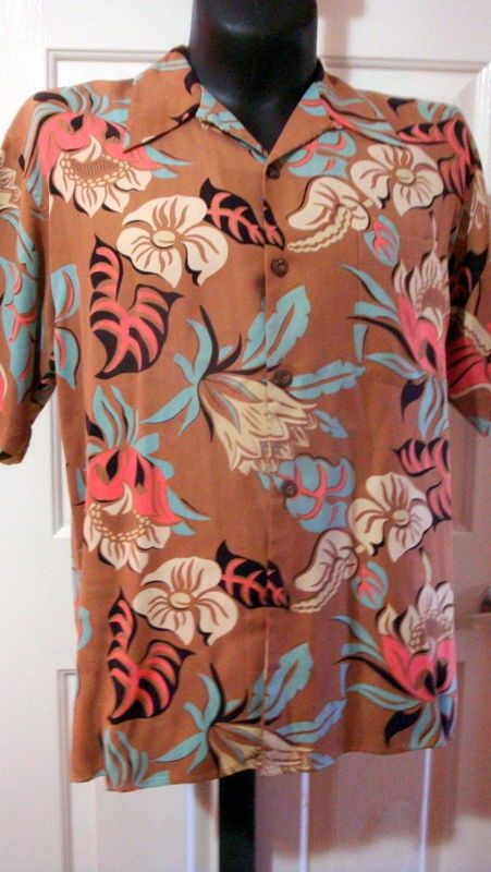 a80fdb90 Avanti Authentic Men's Silk Hawaiian Shirt size medium #Avanti #Hawaiian