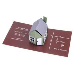 Business Card House Pop Up Greeting Cards Pop Up Invitation Pop Up Book