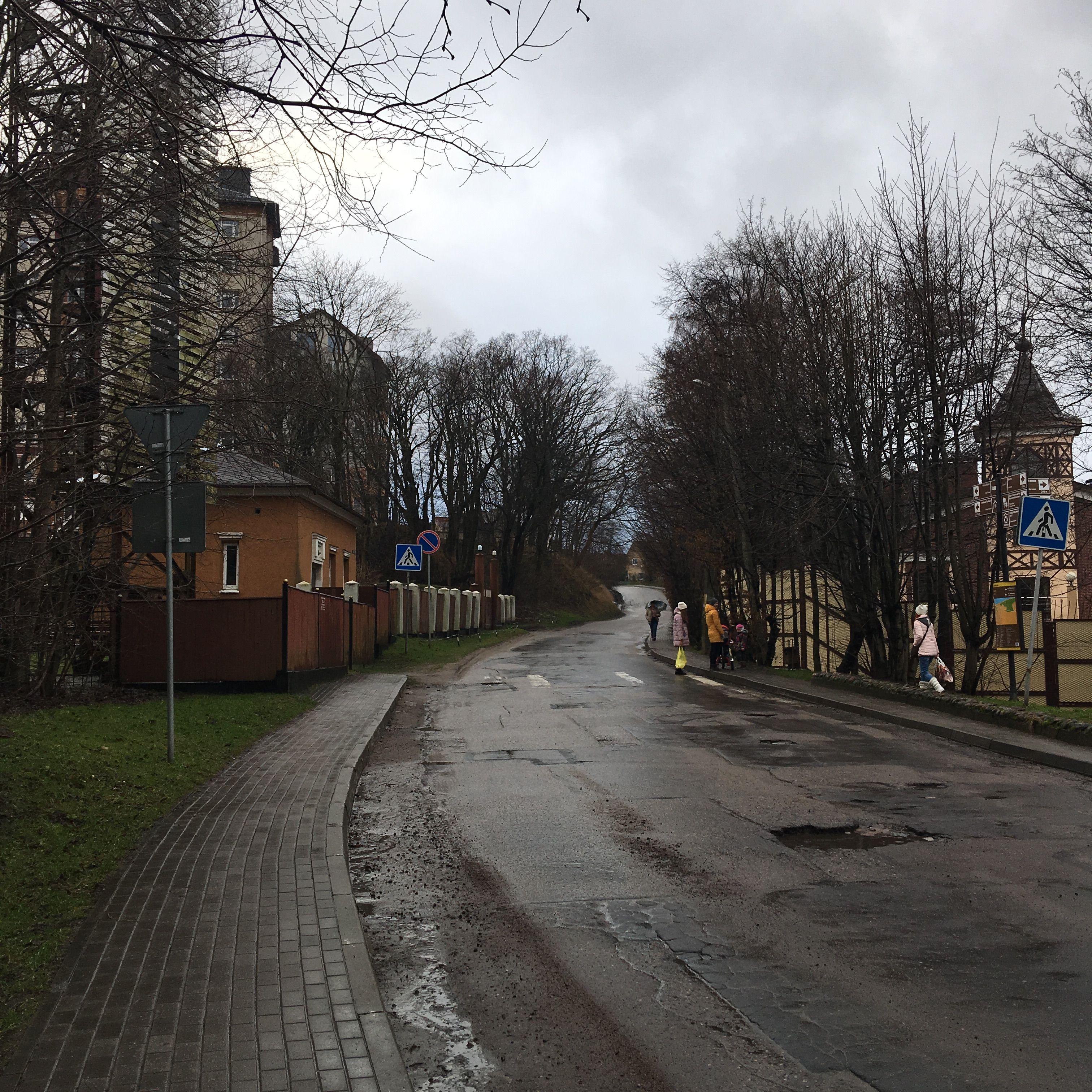 Начало пути в Светлогорск из Пионерского.