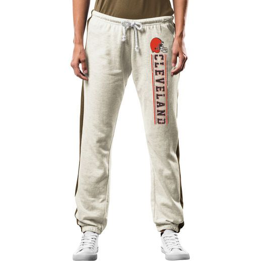 Majestic Cleveland Browns Women's Gray Strong Play Fleece Pants