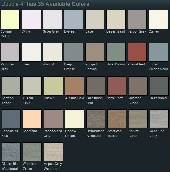 Mastic vinyl siding color chart more also  curb appeal pinte rh pinterest