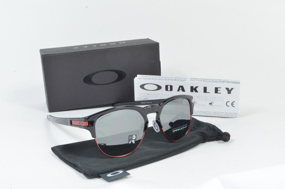 1d8cec8909 Oakley LATCH KEY L Polished Black Prizm Black Iridium OO9394-0555 NIB   fashion  clothing  shoes  accessories  mensaccessories ...