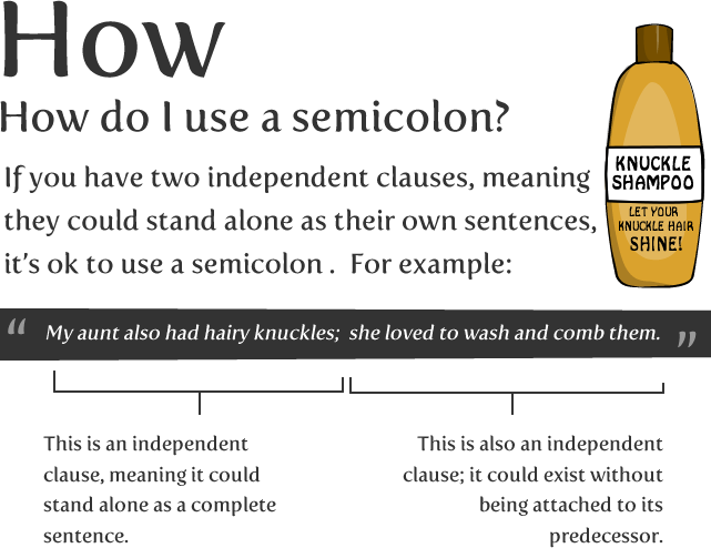 How to use a semicolon, from the oatmeal. | Thought: English Nerd ...