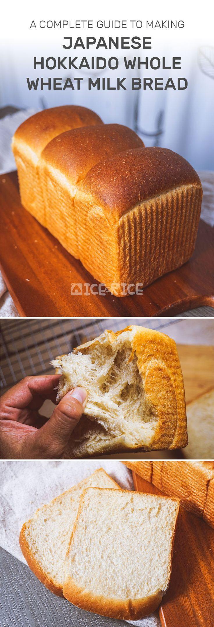 Japanese Hokkaido Whole Wheat Milk Bread | Recipe | Milk ...