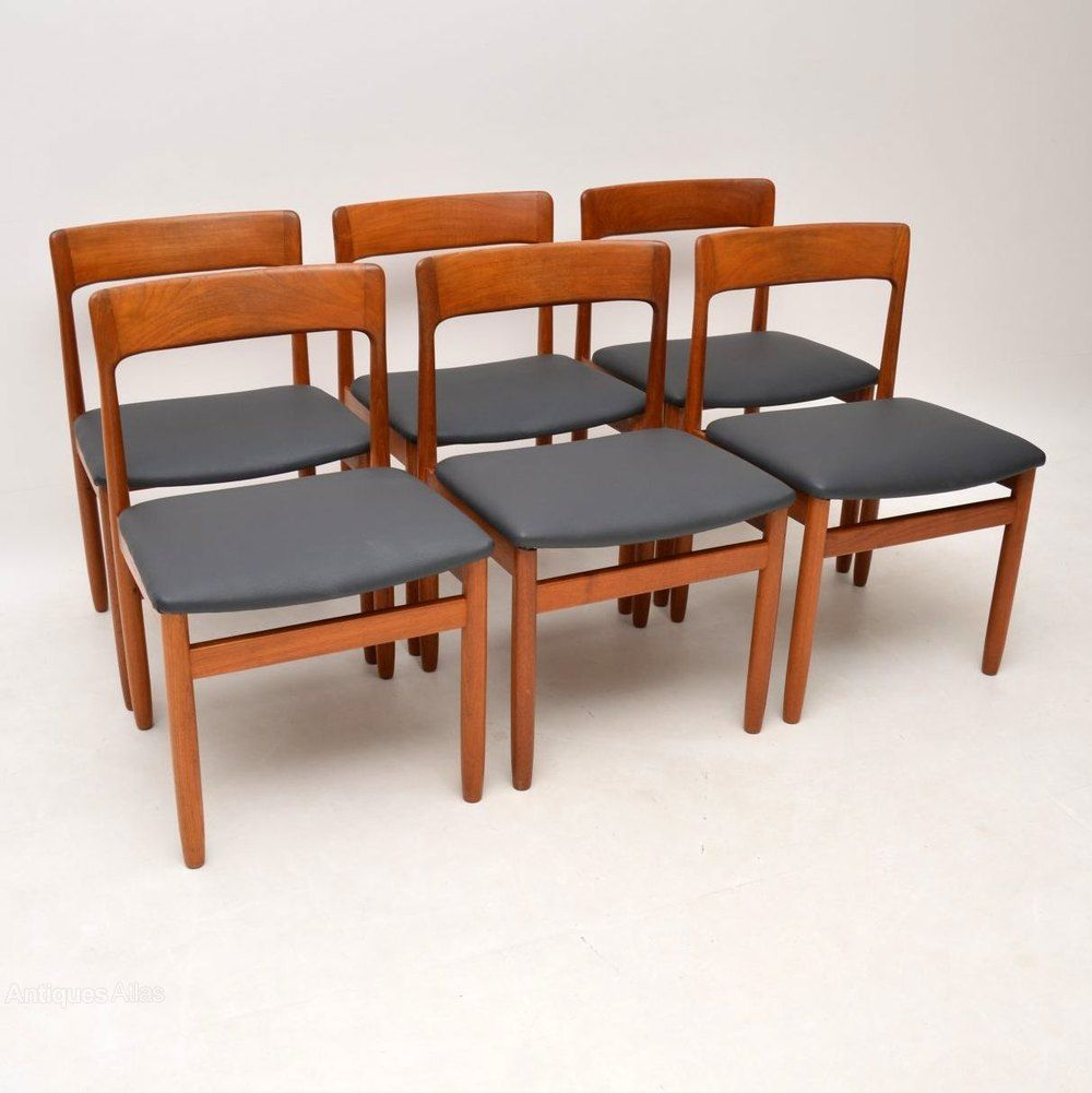 6 Vintage Teak Dining Chairs By Younger Teak Dining Chairs Dining Chairs Teak Table