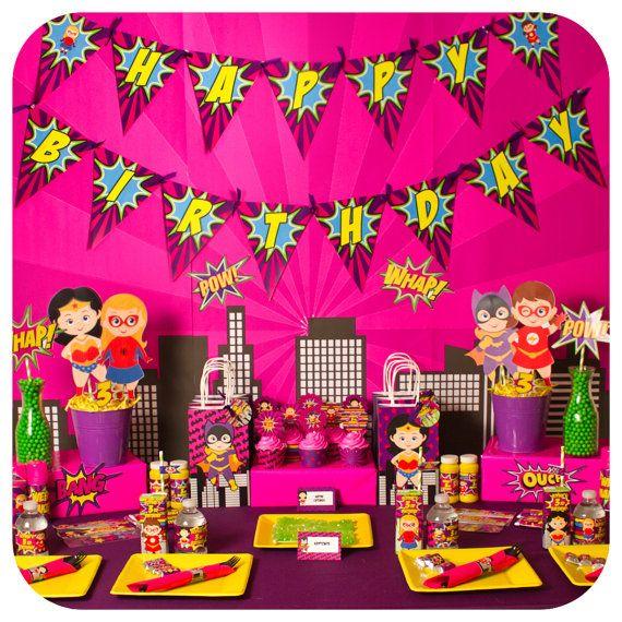 Supergirl Party Birthday By KraftsbyKaleigh