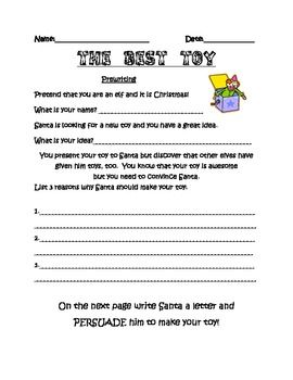 Christmas Fun Persuasive Essay For Grades   Th Grade Language  This Is A Fun Persuasive Essay Where Students Try To Convince Santa To Make  A Toy They Have Created It Includes A Page For Prewriting And Final Drafts Synthesis Essays also How To Write A Thesis Statement For A Essay  Thesis Statement For A Persuasive Essay