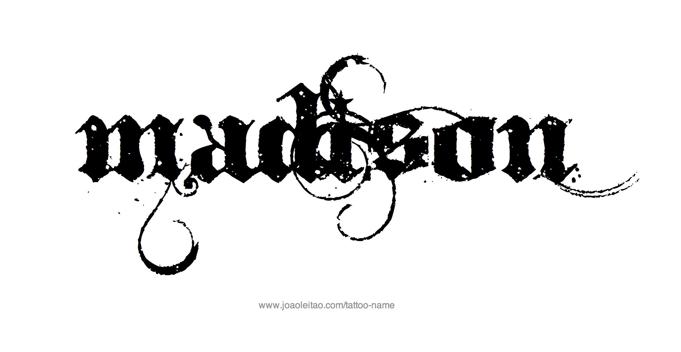 Madison Name Tattoo Designs Name Tattoos Madison Name Baby Name Tattoos