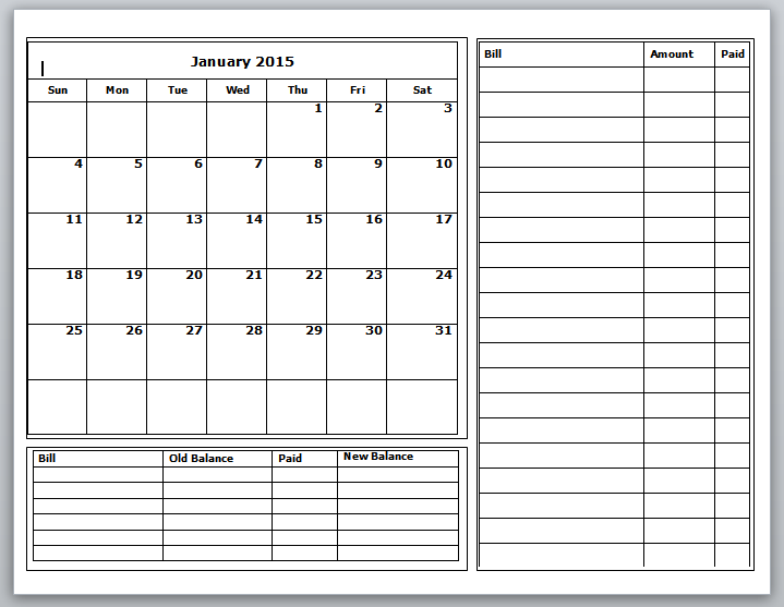 Worksheet To Keep Track Of Paid Monthly Bills  Free Worksheets