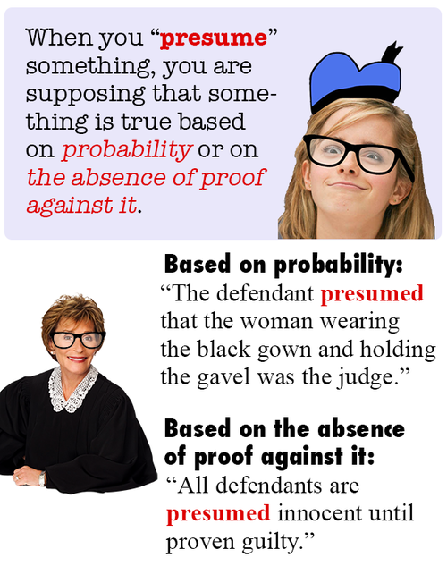 Attractive The Difference Between Assume And Presume   Presume Vs Assume In Difference Between Presume And Assume
