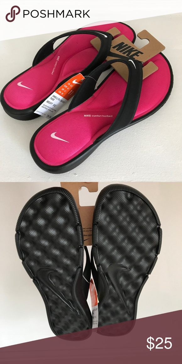 107fc6a29c3a Nike Women s Ultra Comfort Thong Nike Women s Ultra Comfort Thong featured  in Black White-Vivid Pink Nike Shoes
