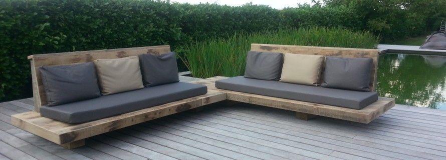 Loungebank buiten wit google zoeken tuinmeubelen pinterest pallet patio patios and pallets - Tuinmeubelen buiten ...