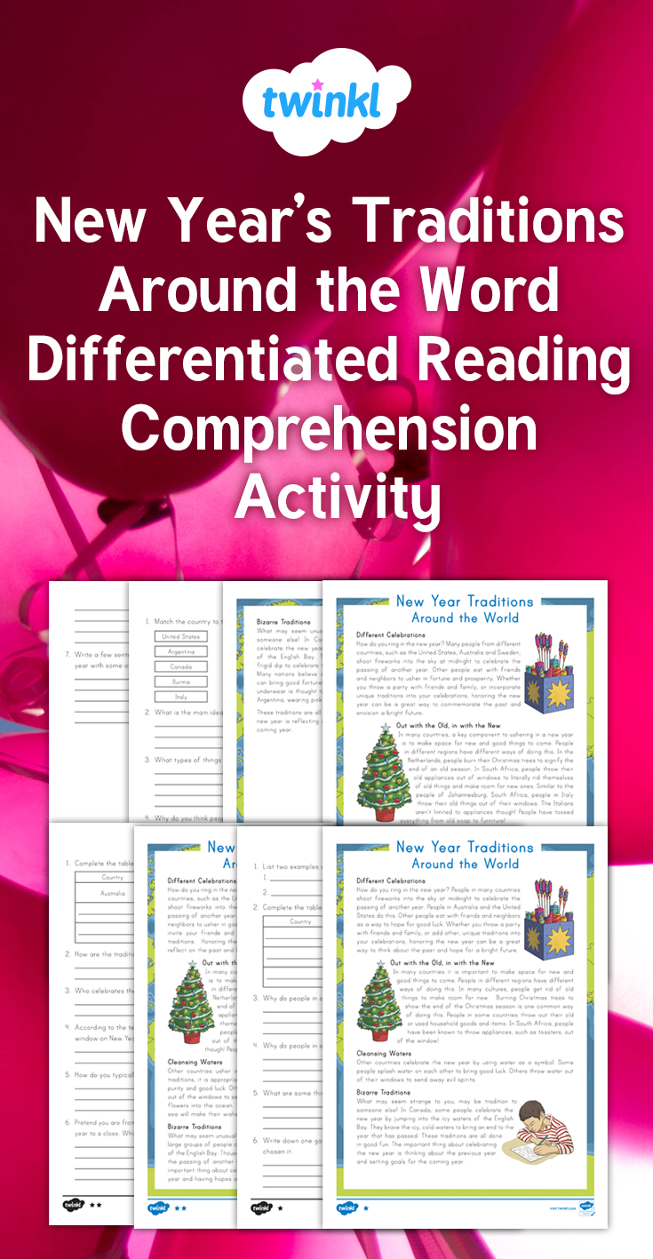 This differentiated reading comprehension passage explains a few New ...