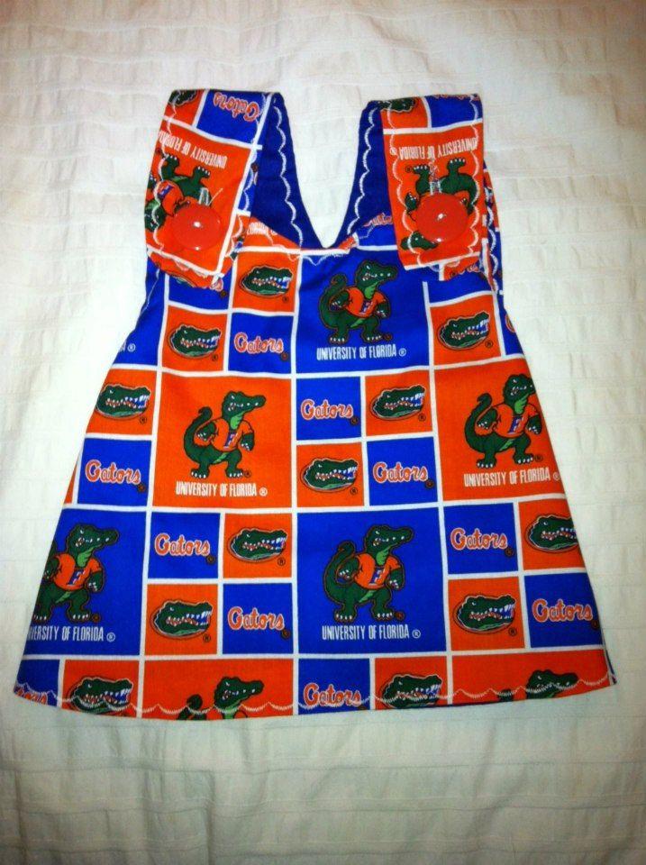 Every little girl needs one... any team NFL or college.  Handmade Children's Football Team Dress. $35.00, via Etsy. College Team Dresses. via Etsy.