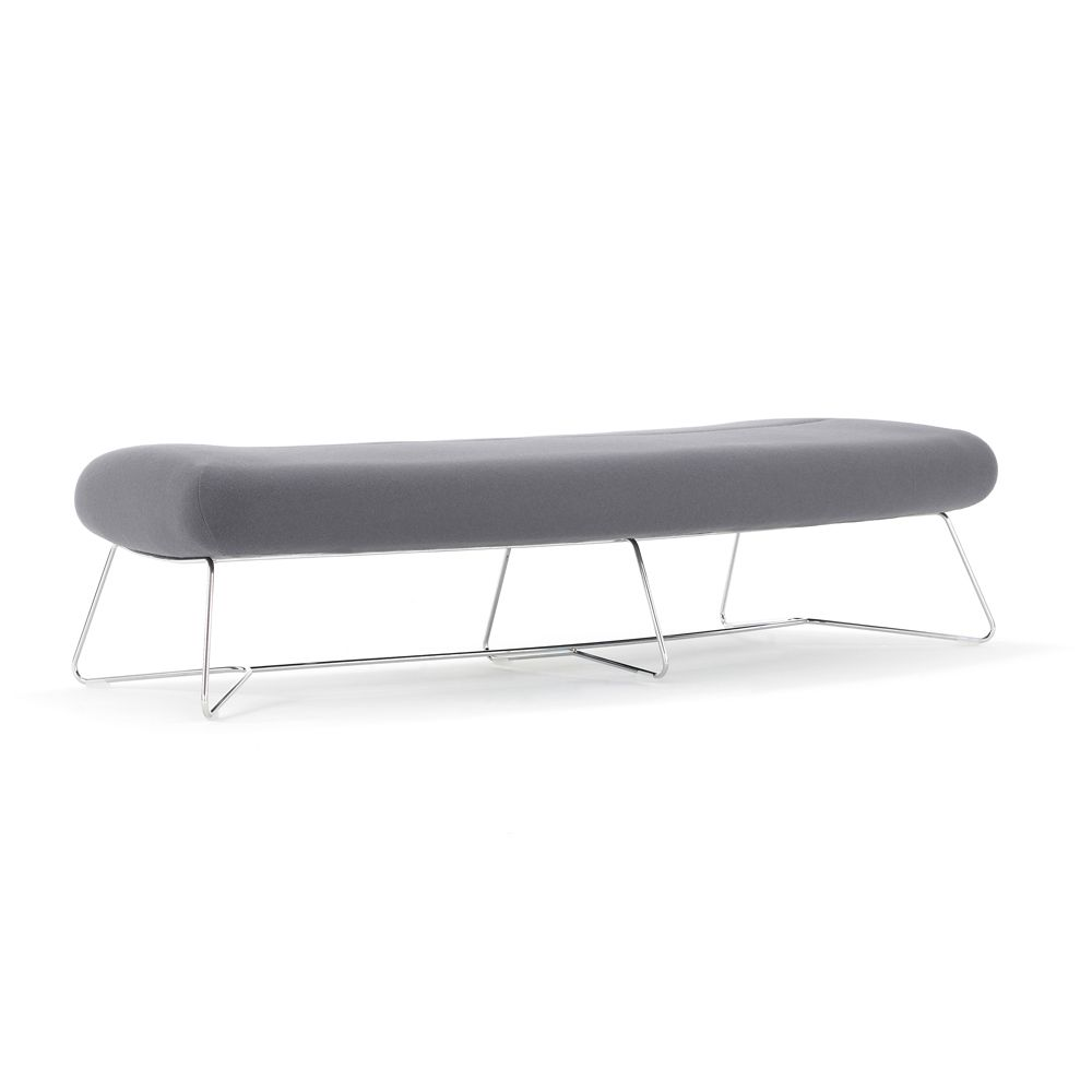 FF02 Freeflow Fully Upholstered Curved Bench   DBI Furniture Solutions