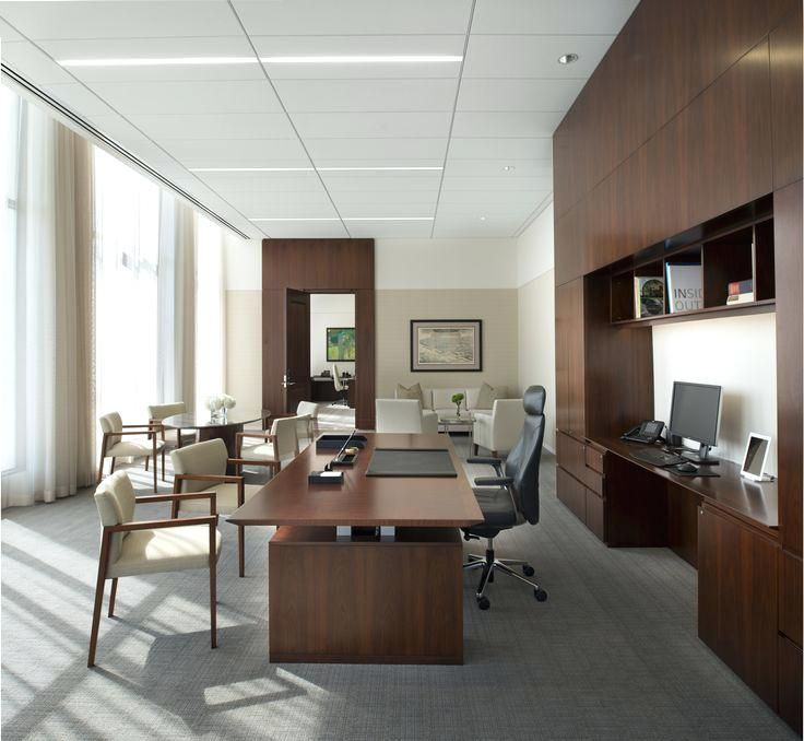Executive Office Decorating Ideas Modern Chic Floating Top