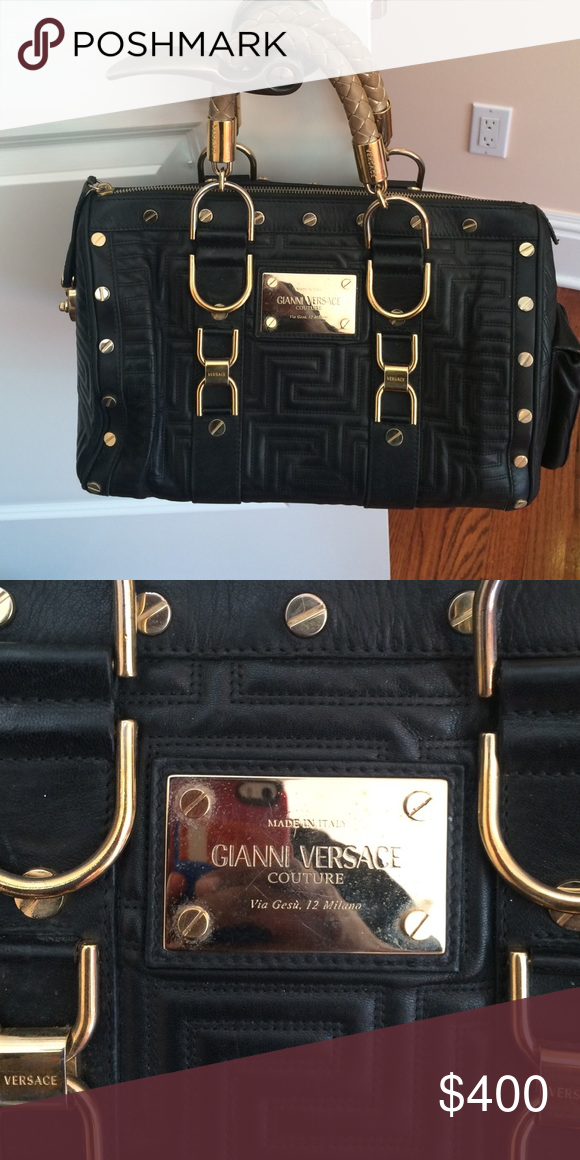 df4861ee4f2 VERSACE bag light signs of wear on handles and hardware but still in very  good shape Versace Other