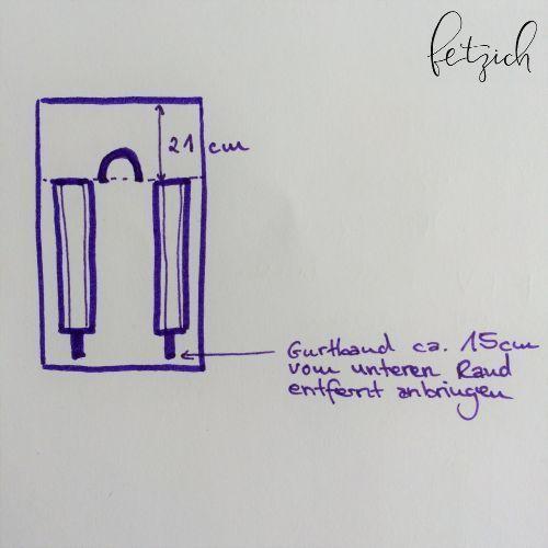 Anleitung Oxford Stoffrucksack selber stricken  Nähecke