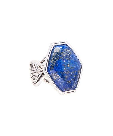 Look what I found on #zulily! Lapis Lazuli & Sterling Silver Geometric Ring #zulilyfinds