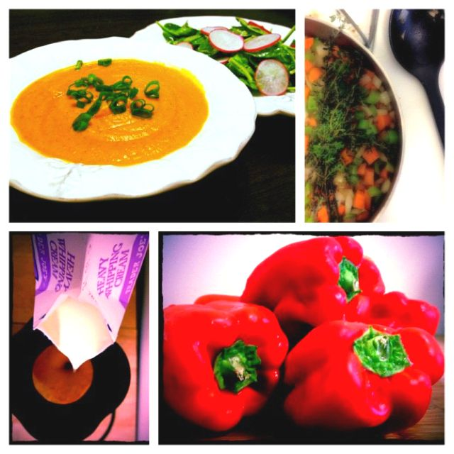 Roasted Red Bell Pepper Soup Delish Roasted Red Bell Pepper Soup Stuffed Peppers Stuffed Pepper Soup