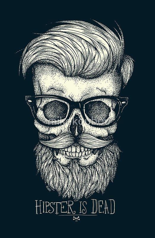 Hipster Is Dead Ii Art Print By Mikekoubou Beard Art Hipster Art Beard Drawing