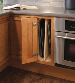 Storage Solutions Details   Passport Base Single Door W/Tray Divider    KraftMaid (great For Baking Trays)