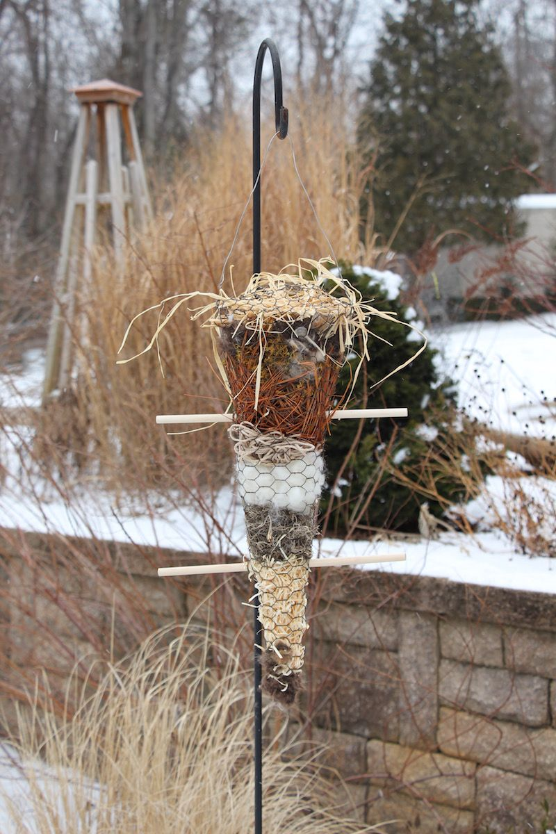 How To Build A Cool Holder For Bird Nest Building Materials Bird Houses Bird Nesting Material Bird House Kits