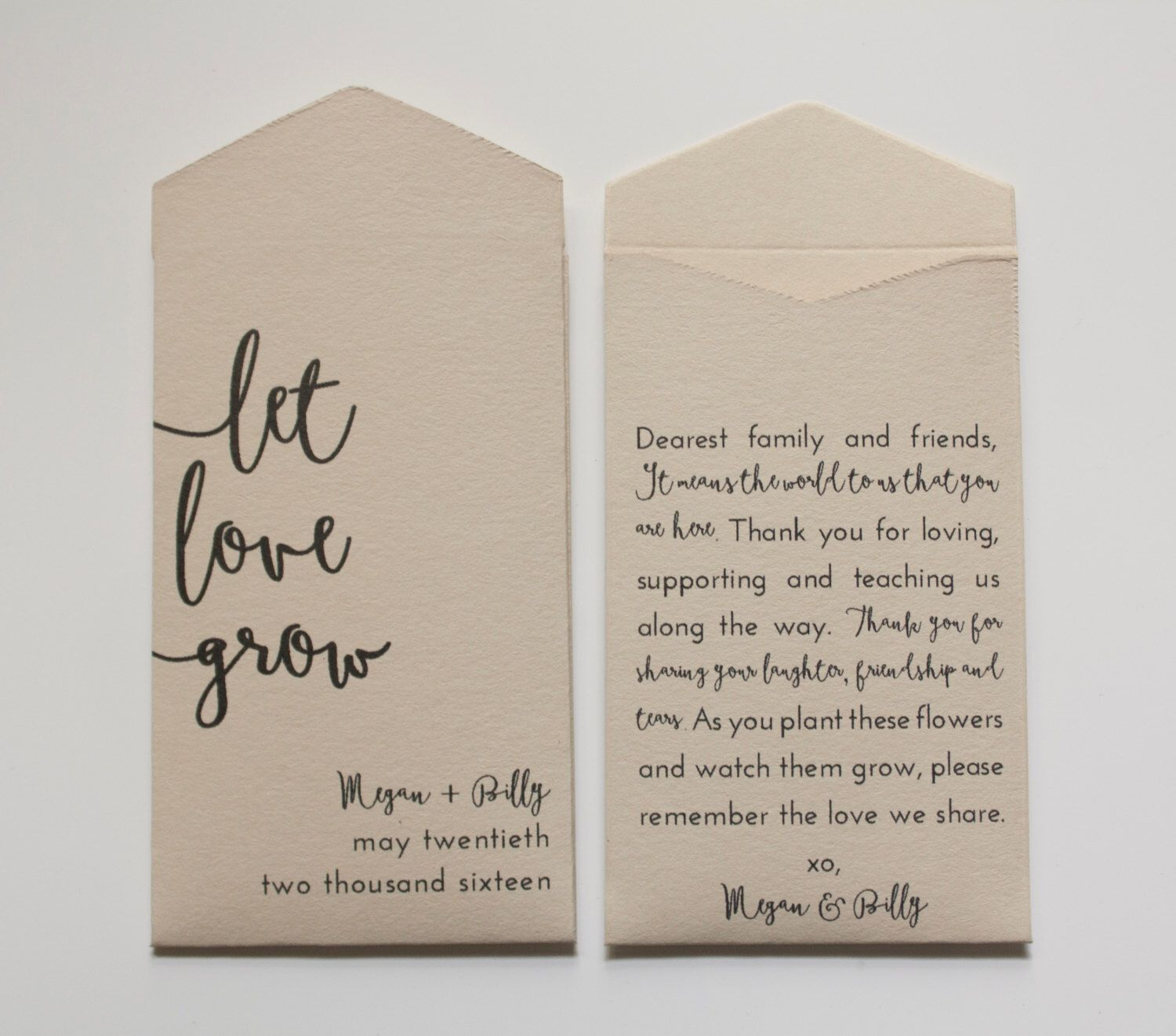 Let Love Grow Seed Packets | Seed Packet Wedding Favors ...