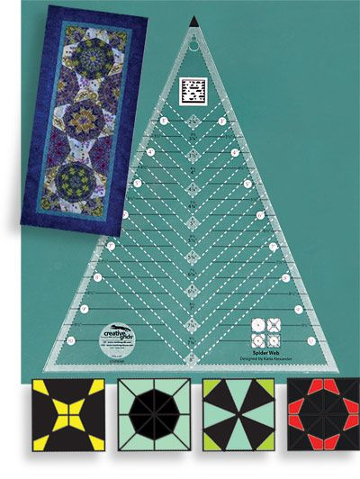 Creative Grids Spider Web Sewing and Quilting Ruler