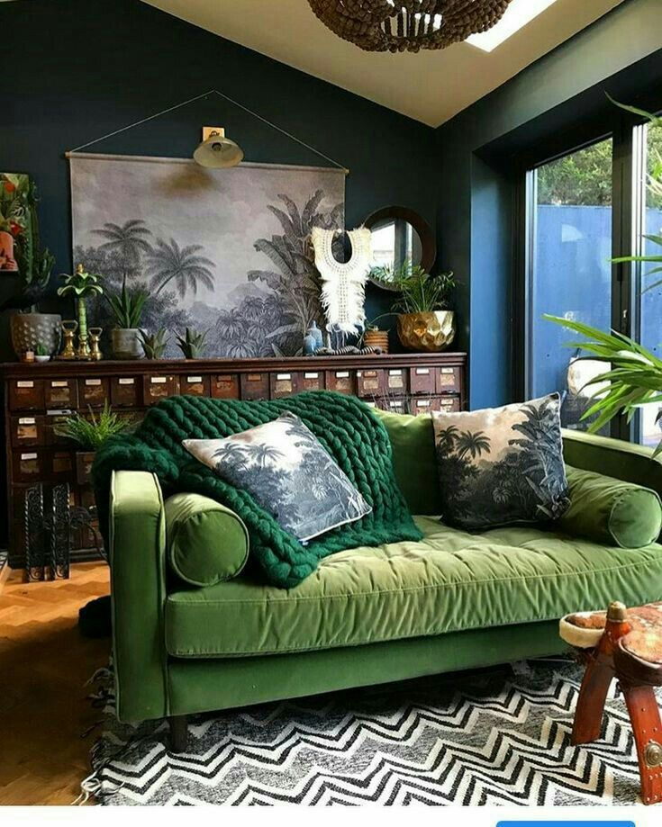 Wall Lighting Palm Tree In Pic Echoes Plants Eclectic Living Room Eclectic Home Home #palm #tree #living #room #decor