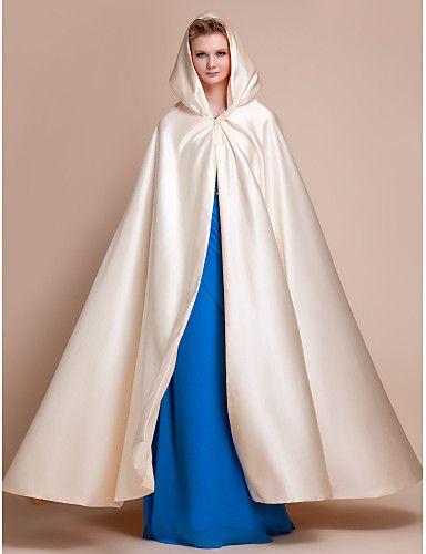 Capes Satin Wedding Party Evening Wedding Wraps Hoods
