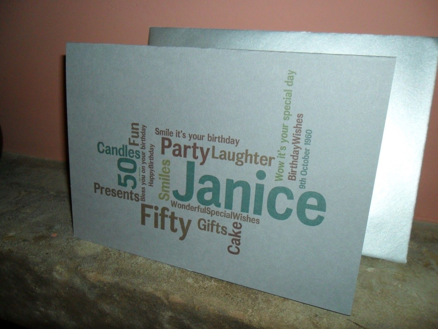 New To Weheartcards On Etsy Fiftieth 50th Birthday Card Luxury