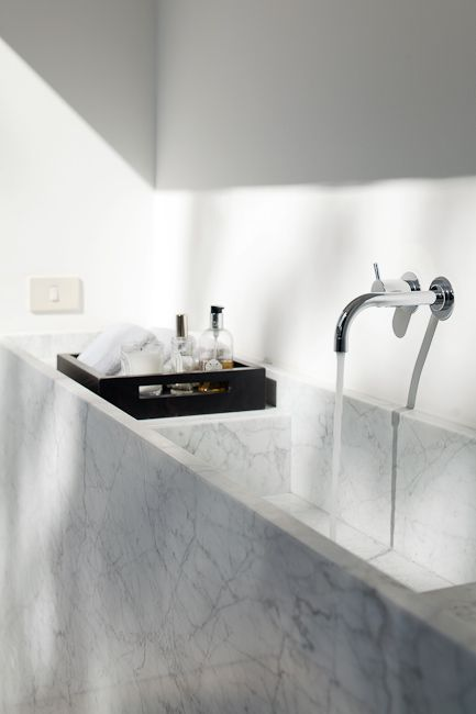 Tim Van De Velde Photography Lpr House Carrara Marble Formed Basin Square Marble Vanity Bas Bathroom Inspiration White Bathroom Inspiration Bathroom Interior