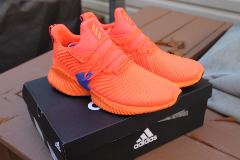 ec8224558022b Adidas Alphabounce Instinct Solar Red Hi-Res Orange Blue Suns Running BB7507