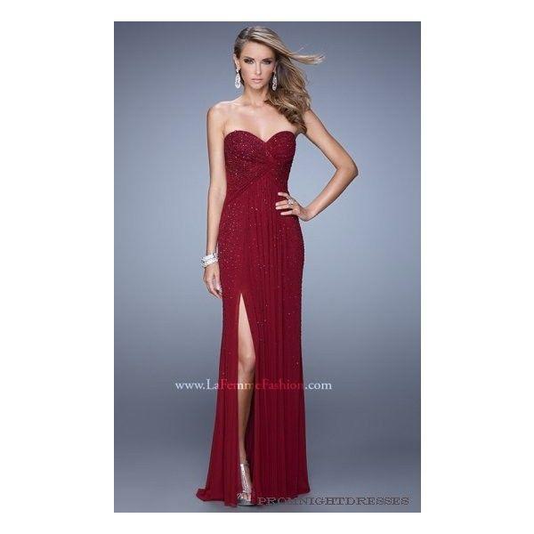 Garnet La Femme 21235 Crisscross Gathers Prom Dress via Polyvore featuring dresses, blue dress, criss cross prom dress, garnet dress, blue ruched dress and crisscross dress