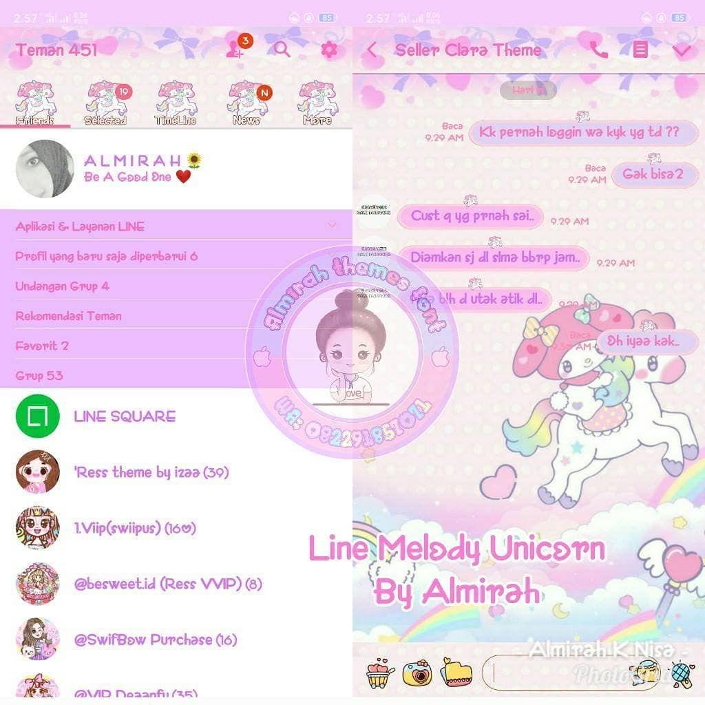 tema line melody unicorn harga 10000tema 🌹 support all
