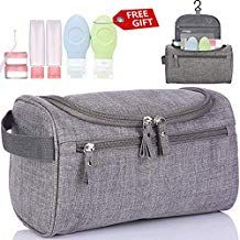 94d143be16a7 Travel Toiletry Bag Organizer Hanging Toiletry Kit For Men Women Dopp Kit  With Hook Waterproof Compact For Shaving Makeup Cosmetic Bathroom Camping  Gym With ...