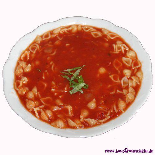 Tomatensuppe - kalorienarmes Rezept  familientaugliche, köstliche und fettarme Tomatensuppe - noch dazu vegetarisch