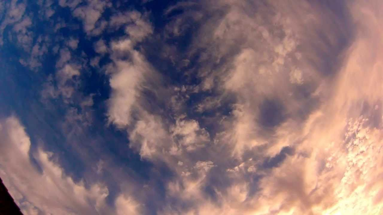 Gopro timelapse clouds and sunset
