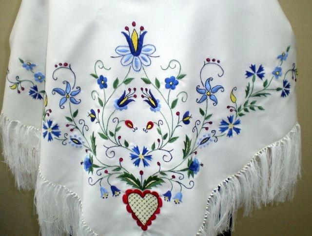 Chusta Kaszubska Haft Reczny 7676829697 Oficjalne Archiwum Allegro Embroidery Pattern Drawings