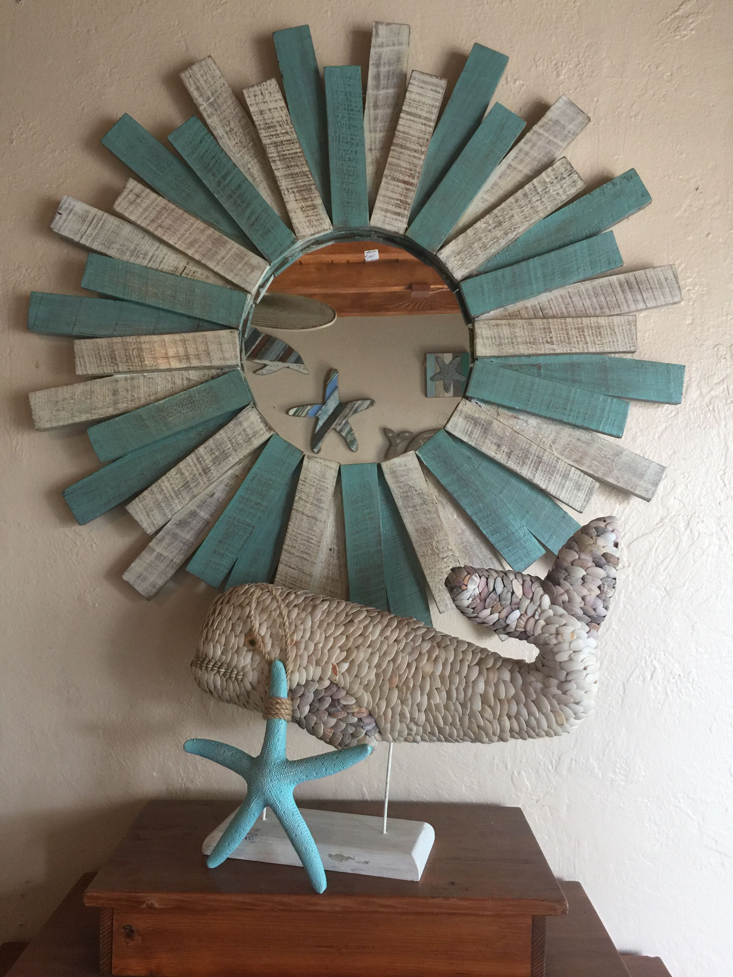 Pretty Beach House Mirror With Images Nautical House Decor