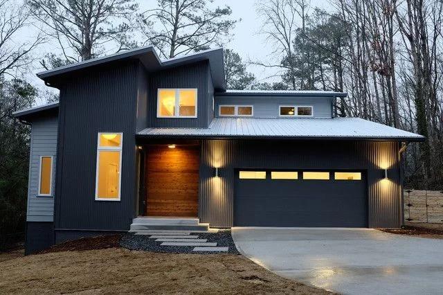Updating An 80 S Contemporary Home Modern House Siding Modern Exterior House Siding