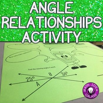 7th Grade End Of The Year Review Angle Relationships
